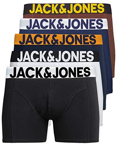 JACK & JONES Herren 5er Pack Boxershorts Mix Unterwäsche Mehrpack,Farb Mix 4,L