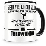 plot4u Creo en Taekwondo Taza taza de café taza de té café Pott Taza de café taza