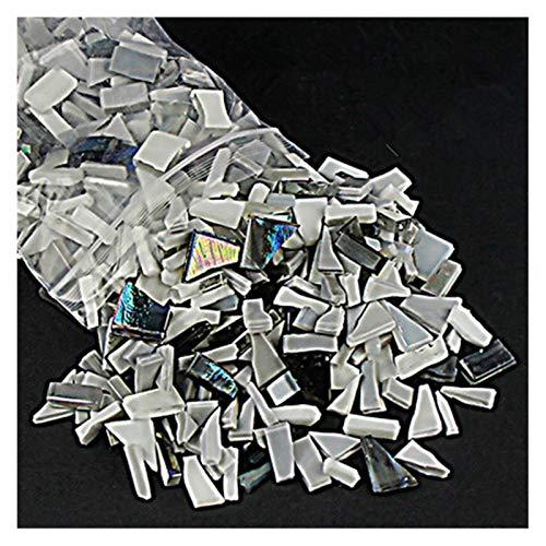 ShawnBlue 230 g de Color Mezclado Espejo de Cristal Espejo Mosaico Azulejos de Forma Irregular Piedra Mosaico artesanía artesanía Materiales para niños/niños Rompecabezas (Color : K)