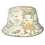 Cappello da Pescatore Donna Animali del Modello Senza Cuciture di tiraggio della Mano dei Bambini Outdoor Pieghevole Secchio Tappo per Campeggio in Viaggio Pesca