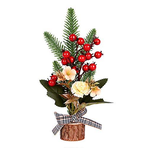 Ohfruit Decorazioni natalizie, rami di pino, ornamenti floreali, regali per bambini, centri commerciali/ristoranti/finestre/contatore decorazione alberi B