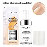 Color Changing Foundation Concealer Abdeckung Flawless Farbwechsel Warmer Hautton Liquid Foundation Concealer 30ml