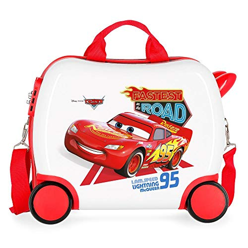 Disney Cars Good Mood Multicoloured Kids Rolling Suitcase 50 x 38 x 20 cm Rigid ABS Combination Lock 25 Litre 2 kg 4 Wheels Hand Luggage