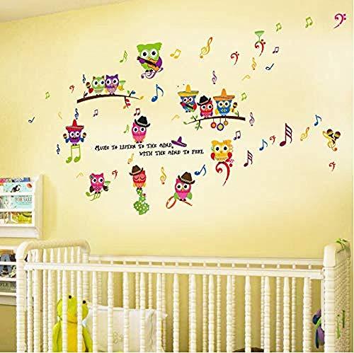 Fotobehang-uil noot cartoon kleuterschool woonkamer slaapkamer decoratie wandafbeelding 50x70cm
