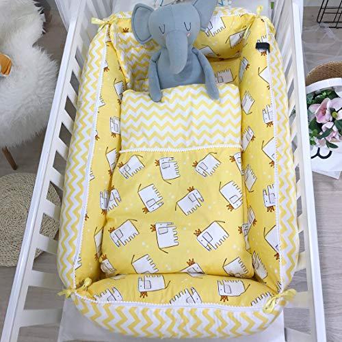 Lit Nouveau-né, lit de Voyage pour bébé, Belle literie pour lit de bébé Bionic, nid pour bébés 100% Coton Fait à la Main nid en Peluche pour bébés de 0 à 8 Mois