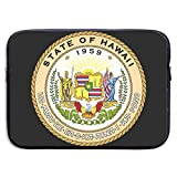 Official Seal of Hawaii Laptop Sleeve 13-15Inch Notebook Computer Pocket Water Resistant Protective Bag
