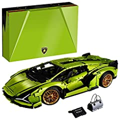 Enjoy immersive building with this LEGO Technic Lamborghini Sián FKP 37 set 42115. Then explore the car's faithful features, including V12 engine with moving pistons, steering, and front and rear suspension With an 8-speed sequential transmission, mo...
