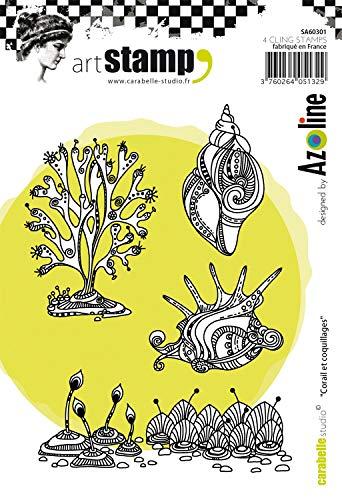 Carabelle Studio Art Cling stempel, koraal en schelpen, voor embossing projecten, kaarten maken en Scrapbooks