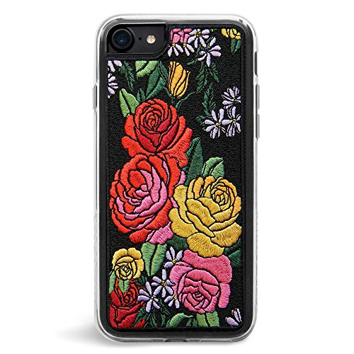Zero Gravity Case Compatible with iPhone 7/8 - Desire - Embroidered Rose Design - 360° Protection, Drop Test Approved