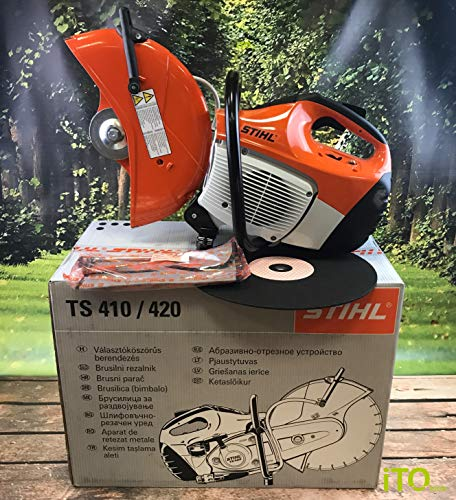 Stihl 42380112810 TS 420 Compact and robust 3.2-kW Cut-Off Saw (350mm Cutting Wheel)