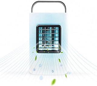 Wxhwhx Luz De La Noche Hogar Cuadrado Refrigeración Micro Aire Acondicionado Solo Frío Ventilador De Refrigeración Enfriador De Aire Blue_13.1 * 13.1 * 17
