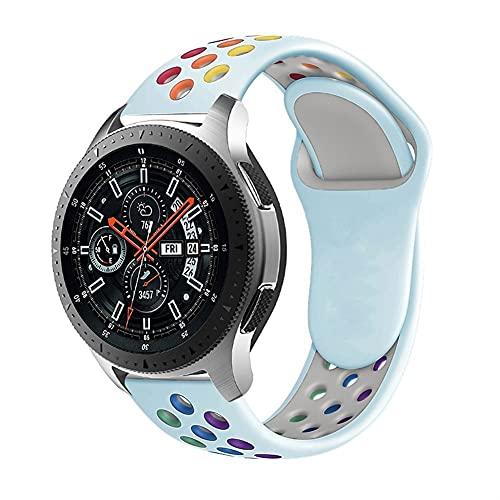 Banda De Reloj De 20 Mm / 22 Mm Para Samsung Galaxy Watch 3 / 46mm / 42mm / Activo 2 / Equipo S3 Pulsera De Silicona Frontera Hua GT / GT2 / 2E / Pro Correa 1033