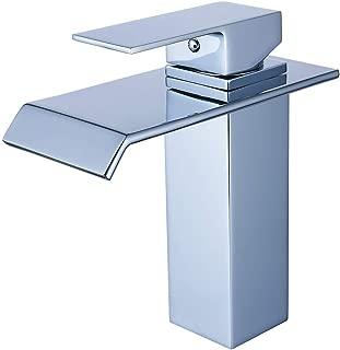 Yodel Single Handle Waterfall Bathroom Vanity Sink Faucet (Chrome)