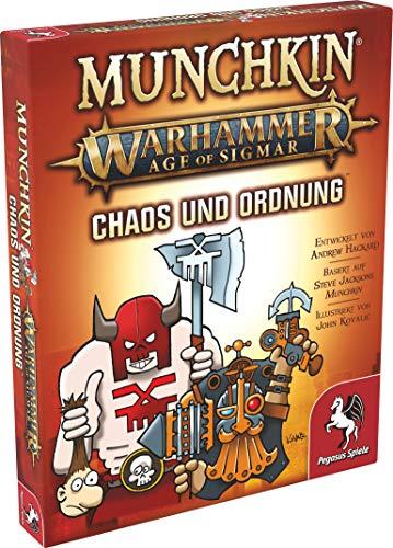 Pegasus Spiele 17022G Munchkin Warhammer Age of Sigmar: Chaos & Ordnung [Erweiterung]