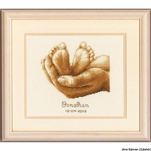 Vervaco - Patrón para Cuadro de Punto de Cruz, diseño pies de recién Nacido y Mano