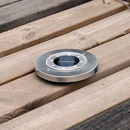 4 canales de luz de suelo 8 focos de suelo de jardín exterior escaleras IP65 terraza solar impermeable de acero inoxidable