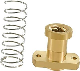 Ronyme Impressora 3D T8 Nut Spring Parts DIY 8mm para Ender 3 CR-10 T8 Screw - Ouro