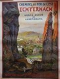 Echternach Luxemburg Poster, Poster, Format Size, 50 x 70