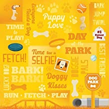 KAREN FOSTER Scrapbooking Paper, 25 Sheets, 12 x 12-Inches Puppy Love Collage, Coll