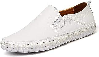 Mocassins pour Homme sur Bande élastique en Cuir véritable Fil à Coudre léger antidérapant Plat Chic Classique Chaussures ...