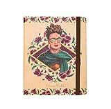 Grupo Erik Editores Premium Spine Wire-O - Notebook, diseño Frida Kahlo Glasses, 16.5 x 20 cm
