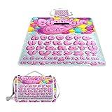 GEEVOSUN Manta de Picnic Impermeable,Fuente Bubble Gum Vector Set Pink,Alfombra Plegable para Camping Parqu,145 * 150cm