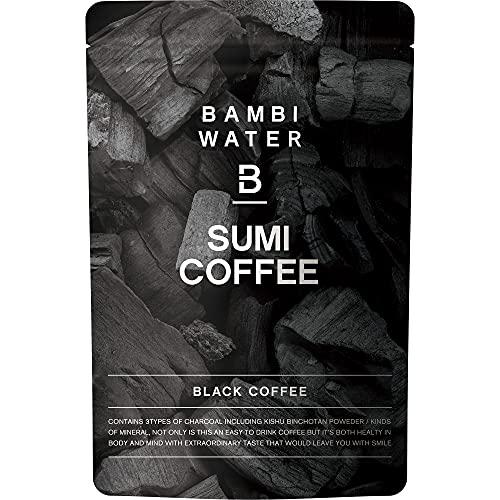 バンビウォーター 炭コーヒー 150g カフェインレスで難消化デキストリン・ビフィズス菌・乳酸菌を配合!食物繊維もたっぷりなチャコールクレンズで置き換えダイエット (ブラック)