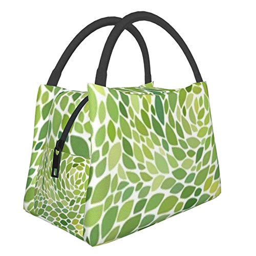 Bolsa de almuerzo portátil con aislamiento Cool (Hojas de patrón abstracto) 8.5L