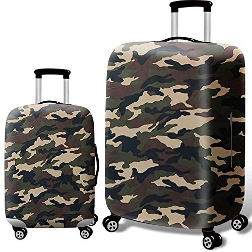 Luggage Cover Thick Elastic Camouflage Tavel Luggage Cover Fit For 18-32 Inch Luggage (Color : Camouflage, Size : L(25''-28''))