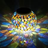 Solar Glass Ball Table Light - Aukora Color Changing Solar Powered Mosaic Glass