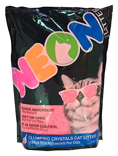 Neon Clumping Silica Gel Cat Litter, 4 lb, Pink