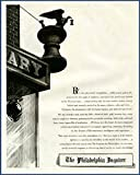 Philosophical Content in 1945 AD for Philly Inquirer Original Paper Ephemera Authentic Vintage Print Magazine Ad/Article