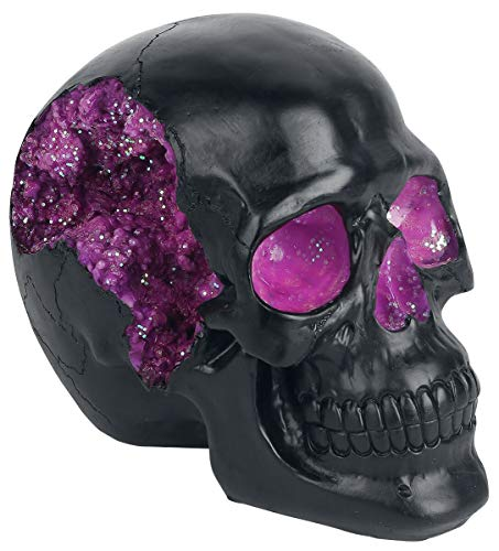 Nemesis Now Geode Skull - Figura Decorativa (17 cm), Color Negro