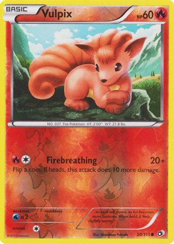 Pokemon - Vulpix (20/113) - Legenda…