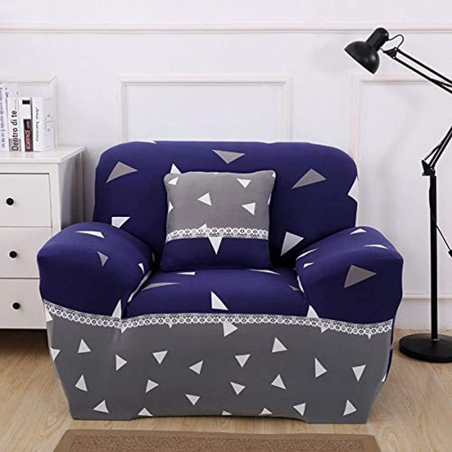 Farmerly Minimalist Geometric Stripe Printing Sofa Predective Slipcover Case Anti-Dirty Dust-Proof Elastic Couch Seat Cover for Living   12, Single seat