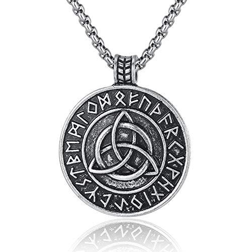 Holyheart Viking Trinity Knot Necklace, Nordic...