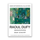 HJKLP Raoul Dufy Artwork Prints ExposicióN Vintage Poster Gallery Arte De La Pared Pintura De La Lona Cuadros De La Pared para La Decoracion De La Salon De Estar 40x50cm Sin Marco