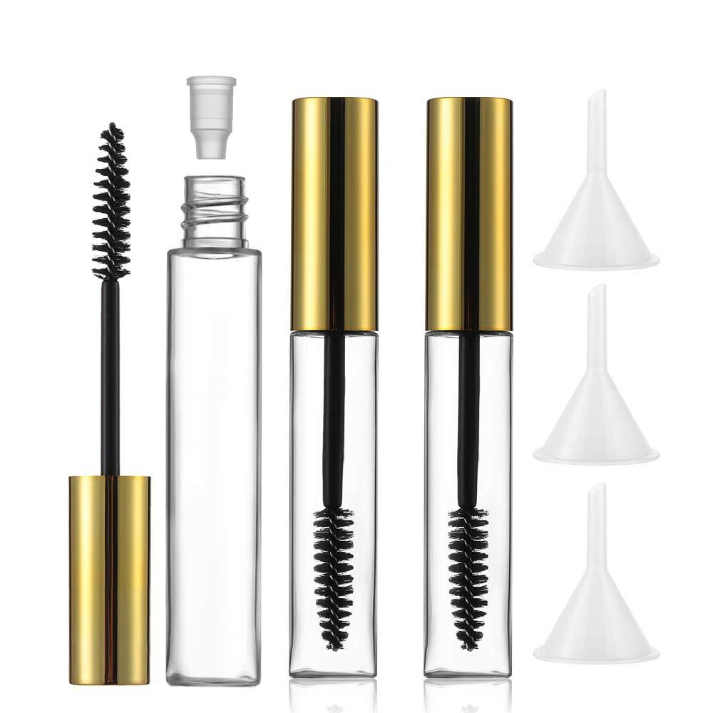 6pcs Empty Mascara Tube and I Sales Rubber Eyelash Fashion Wand Funnels,with