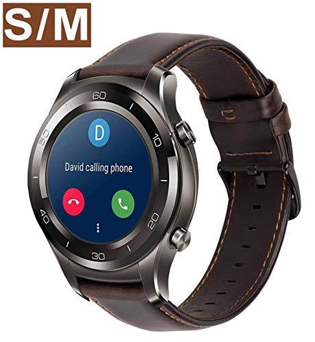 Gear s3 Armband Leder Vintage Lederarmband Galaxy Watch 46mm Uhrenarmband 22mm Echtes Lederband kompatibel für Samsung Gear S3 Frontier Classic, Huawei Watch 2 Classic / Huawei GT - Kaffee klein