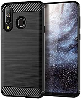 For Samsung Galaxy A8S Mobile Phone Case For Samsung A8S Protective Cover Brushed Carbon Fiber Pattern Silicone Anti-fall ...