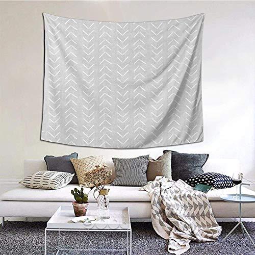 Tapiz para colgar en la pared, con diseño de flechas grandes en color gris, 152 x 122 cm, para decoración de dormitorio, sala de estar, hogar