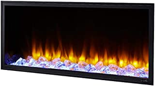 infrared electric fireplace with shelf