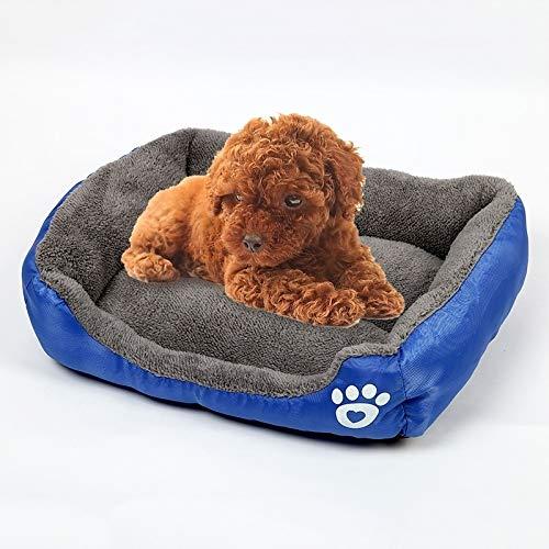 Huisdier-bed snoepkleuren-bont bont snoepgoed huisdier-hondenmand Mat Teddy hondenmat, afmetingen: 3XL, 110 × 82 × 20 cm (koffie). Dark Blue