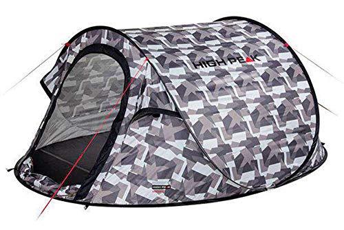 High Peak Vision 3 Pop Up Tent Unisex-Adult, Camouflage, Taille Unique