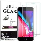 wonbu 2 Unidades, Cristal Templado para iPhone 7 Plus, iPhone 8 Plus, Antiarañazos, 9H, 0.33 mm, Antihuellas, Protector de Pantalla Ultra Resistente