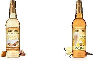 Jordan's Skinny Syrups | Sugar Free Caramel Pecan Syrup | Healthy Flavors with 0 Calories, 0 Sugar, 0 Carbs | 750ml/25.4oz...