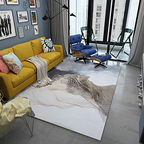 Nordic Geometric Simple Fashion Non-Slip Carpet Modern 3D Digital Printing Floor Mats Living Room Bedroom Hotel Party Carpet