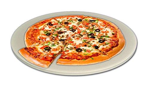 Innocom Pizzastein 25,5 cm Backstein Brotbackstein Grillstein Ideal für Pizzaofen