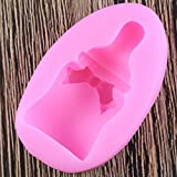 N /A Moldes de Silicona para biberones 3D Moldes deFondant Herramientas de decoración de Pasteles de cumpleaños para bebésMoldes de Caramelo deArcilla polimérica