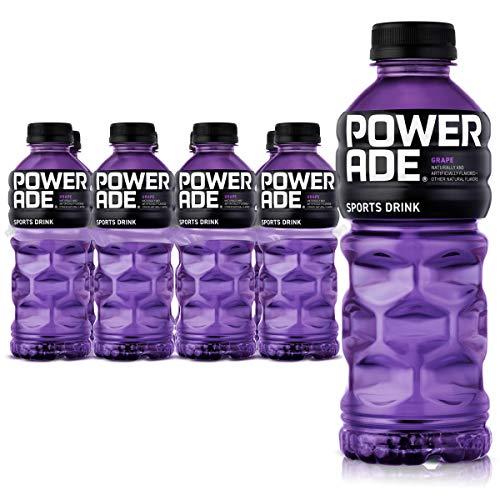 POWERADE, Electrolyte Enhanced Sports Drinks w/ vitamins, Grape, 20 fl oz, 8 Pack